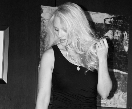 Jacqueline Jax black and white photo