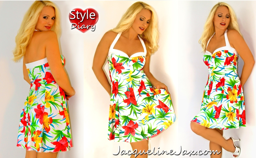 Viscaya hawaiian print sundress_logo