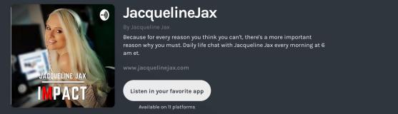 Jacqueline jax podcast impact